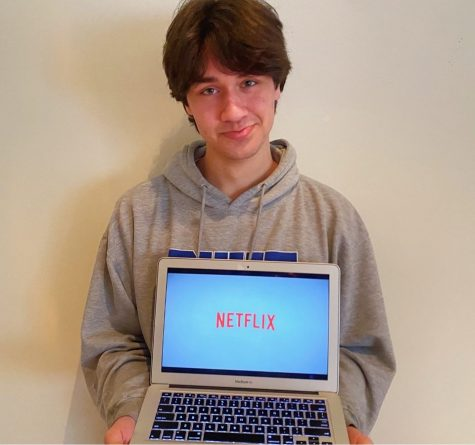 Netflix Blues: Many Dubs, and Netflix bingers across the nation, are disappointed to hear of the departure of some of their favorite shows from the streaming platform. Shown above is junior Grant Hawkins showing his distaste for the situation.