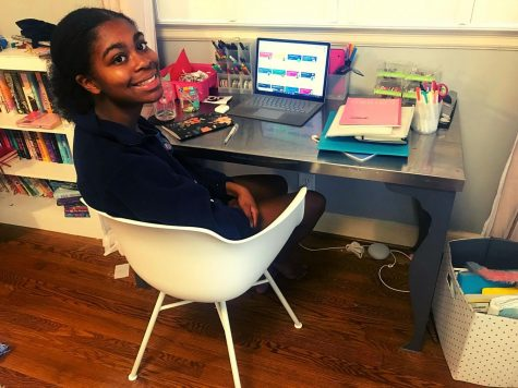 Pandemic Perils: Like all other 2,100 North Atlanta students, sophomore Lena Hoover  has had to completely redo her own notions of what school means during the pandemic-impacted 2020-21 school year.