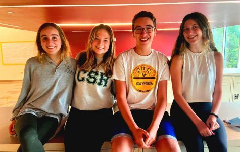 Unsilenced Voices: Sophomore Olivia Granot, juniors Macy Margulius and Matan Berg, along with sophomore Blair Rubinger are all members of the North Atlanta's Jewish Student Union, a club where members can explore and celebrate their religious and cultural identity.