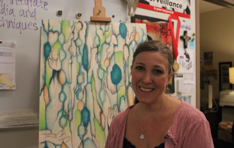 Art teacher, Kimberly Landers, is dedicated to the cultivation of her student's artistic minds.