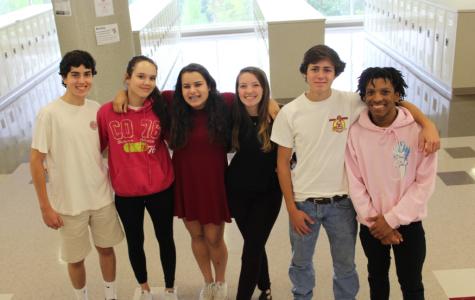 The Chick Clique from left to right: Nicolas Prada-Rey, Madeleine Brake, Roya Register, Olivia Meredith, Thomas Shoup, Terrell Wicker.