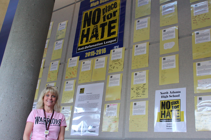No Place for Hate sponsor, Rebecca England, has made a huge impact on the program here at North Atlanta.