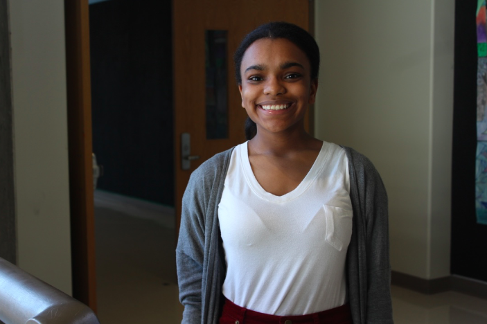 Terriunna Washington was the winner of the Poetry Outloud competition this year.