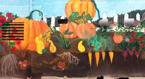 NAHS Art Students Tackle Garden Hills Elementary Mural