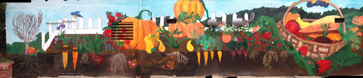 Nahs Art Students Tackle Garden Hills Elementary Mural The Warrior Wire