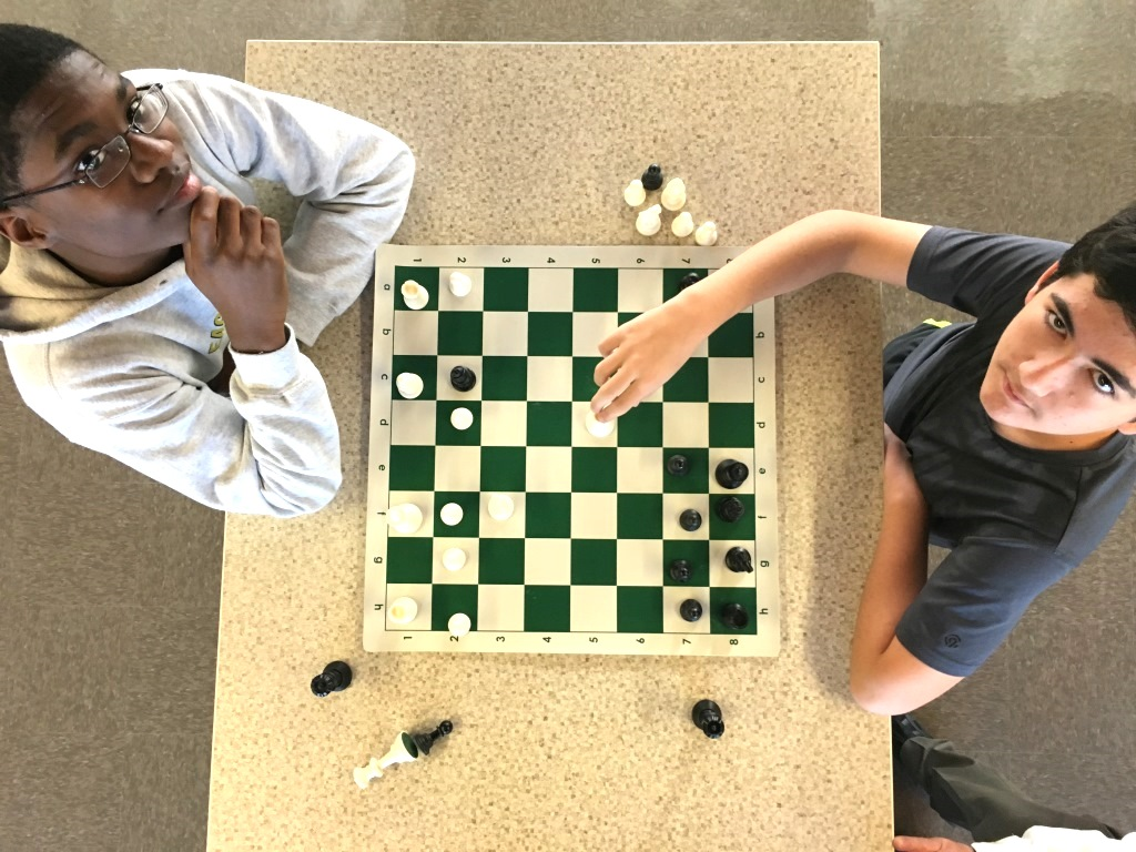 Every Monday morning, Warriors wage battle with clashing knights, kings, rooks, bishops and pawns during meetings of the North Atlanta chess club. Sophomore Harrison Head and freshman Alan Spektor go head to head.