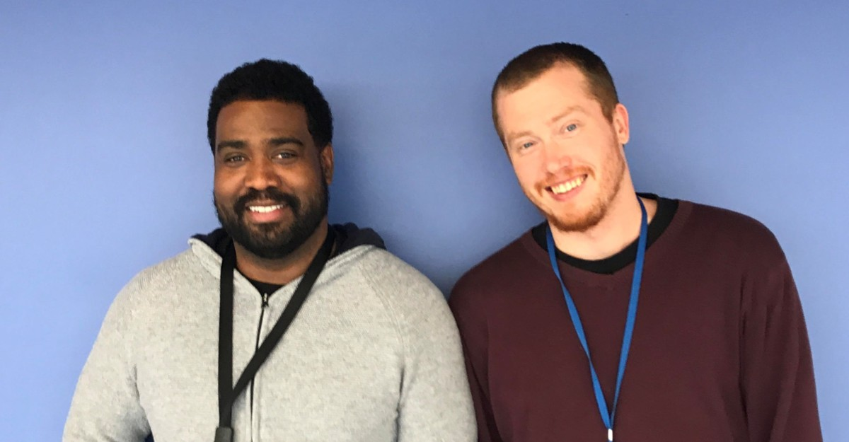 A Growing Movement: Ian Harris, audio-visual instructor, and Tyler Brelje, Arabic instructor, are among the many teachers who've put down their razors in November.