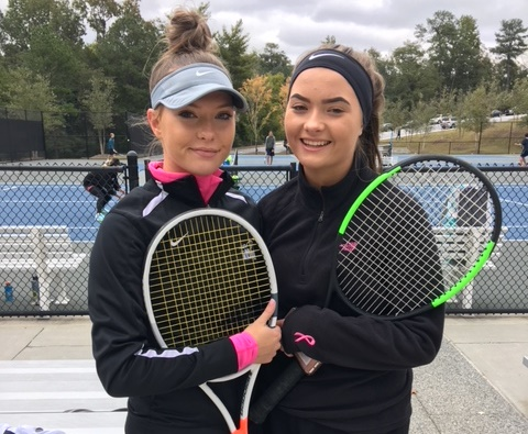 Match Twins: Juniors Libby and Kate Jern are leaders on the Warrior girls team.