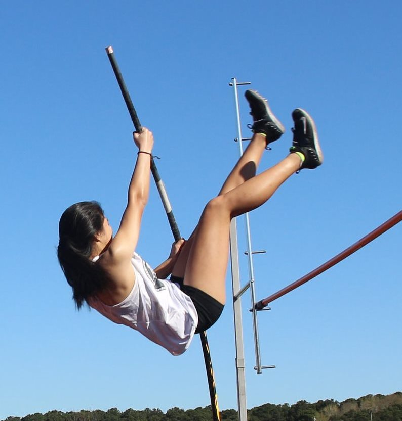 Vaulting+Ahead%3A+Sophomore+Sydney+Tribou+is+taking+her+sport+to+new+levels+for+the+Warrior+track+and+field+team.+