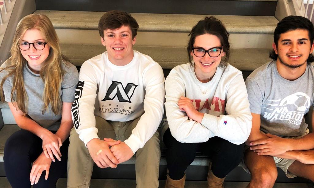 Classic City Cohort: This year an impressive 60 out of 107 North Atlanta students who applied to the University of Georgia were accepted. Shown here are future UGA students Grace Hackett, Tucker Shields, Hollis Midkiff and Alejandro Marin.