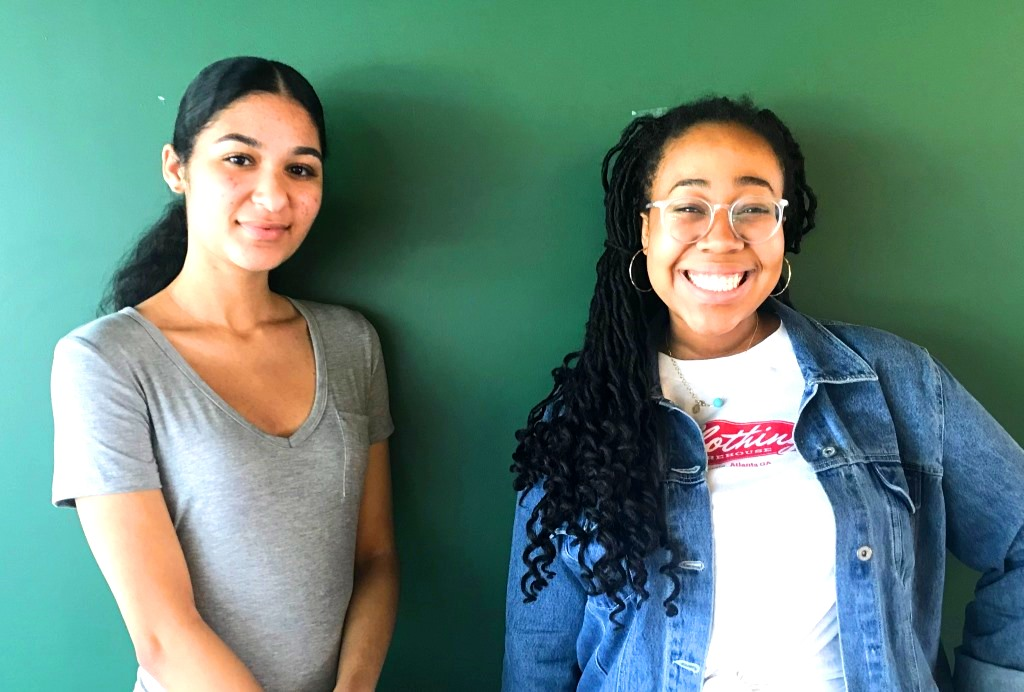 Force Supporters: Theater department students junior Chloe Senter and sophomore Lenox Johnson were among those who sang at a recent Atlanta Police Women's History Month Luncheon on March 16.