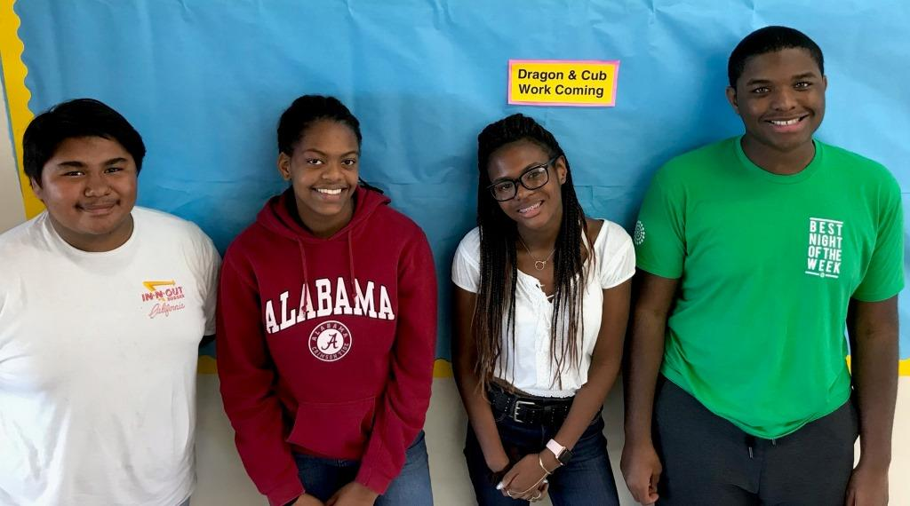 IB Leaders: Juniors Javier Manzanarez, Jordan Artis, De'Asia Dozier and Jaden Reeves of North Atlanta's rigorous International Baccalaureate program.