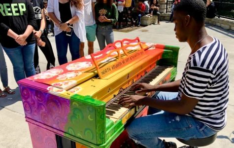 NAHS Students Spread Art and Music with Pianos for Peace