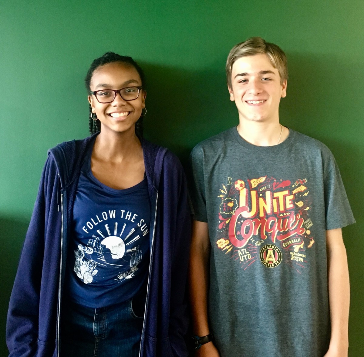 Transition Period: Freshmen Jordan Brown and James Bloodworth adjust to the jarring size of the North Atlanta building.
