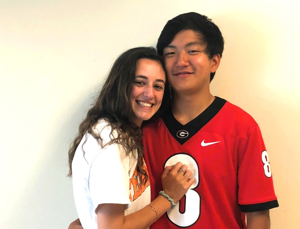 Color Blind: Juniors Abby Eckl and Matthew Yim immerse themselves in each other's cultures as an interracial couple.