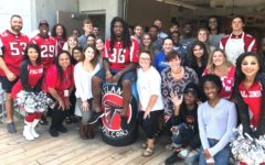 Visiting Falcons Help Kick Off New Art Leadership Program