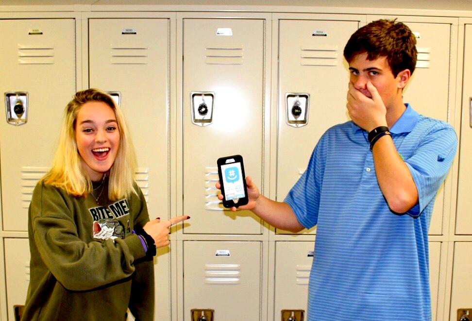 GroupMe Group Chats: Juniors Ansley Booth and Graham Lee enjoy some of the battles and discussions that occur on the GroupMe app.