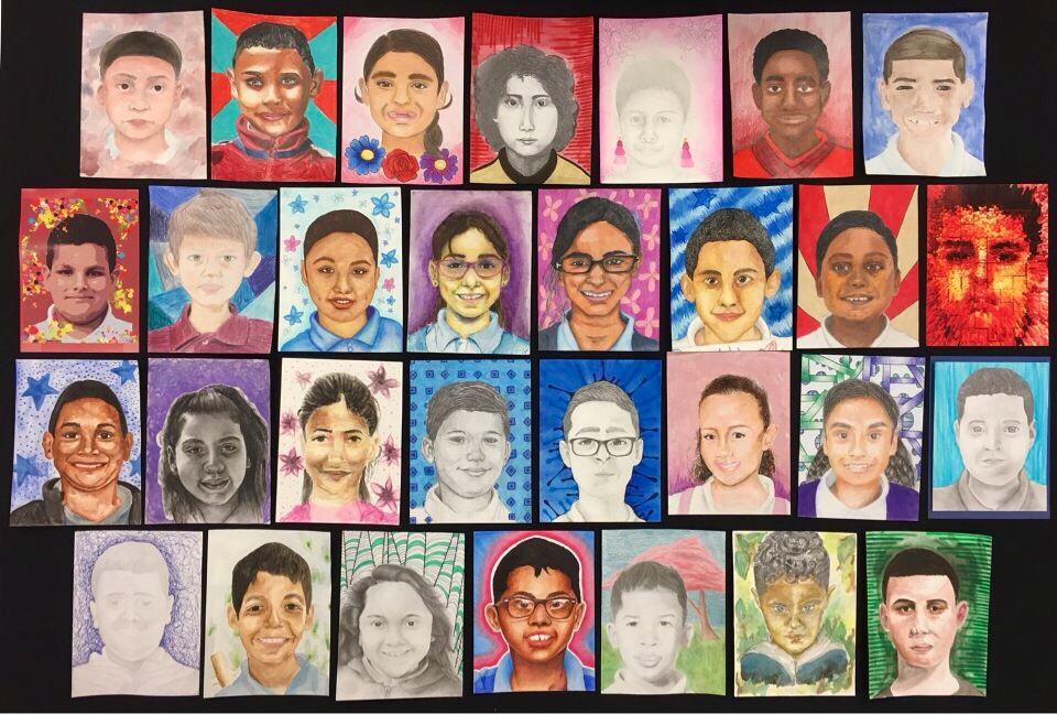 Memorable Masterpieces: The North Atlanta Memory Project for Puerto Rico has been contributed into a powerful collection of portraits made by the NAHS art classes.