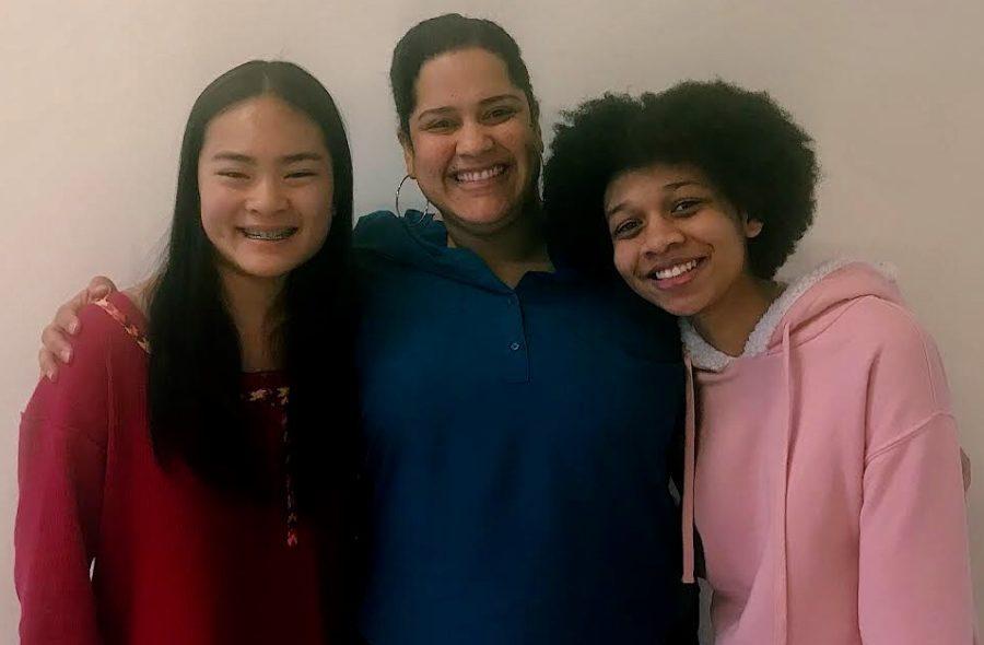 Beautiful: Junior Fiona Liu, director Lilliangina Quiñones, and junior Kristin Scott are part of the Heathers audition process.