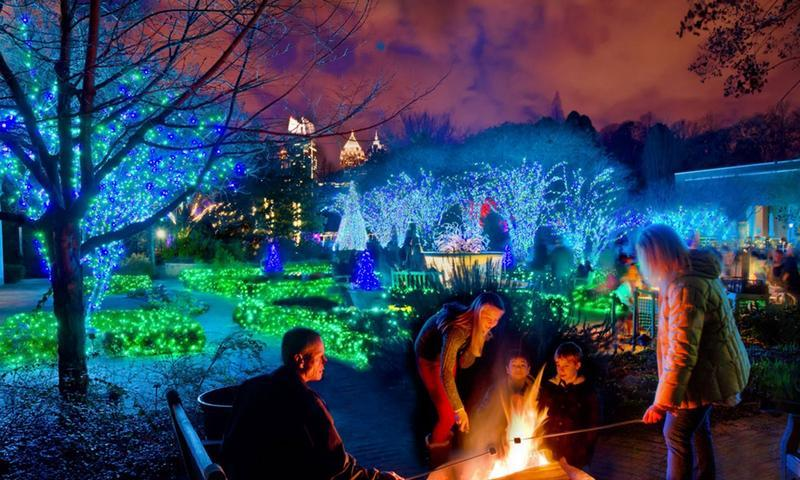 Garden+of+Lights%3A+Atlanta+Botanical+Gardens+deck+out+with+their+annual+%22Holiday+Night+Lights%22+greenery+spectacular.+