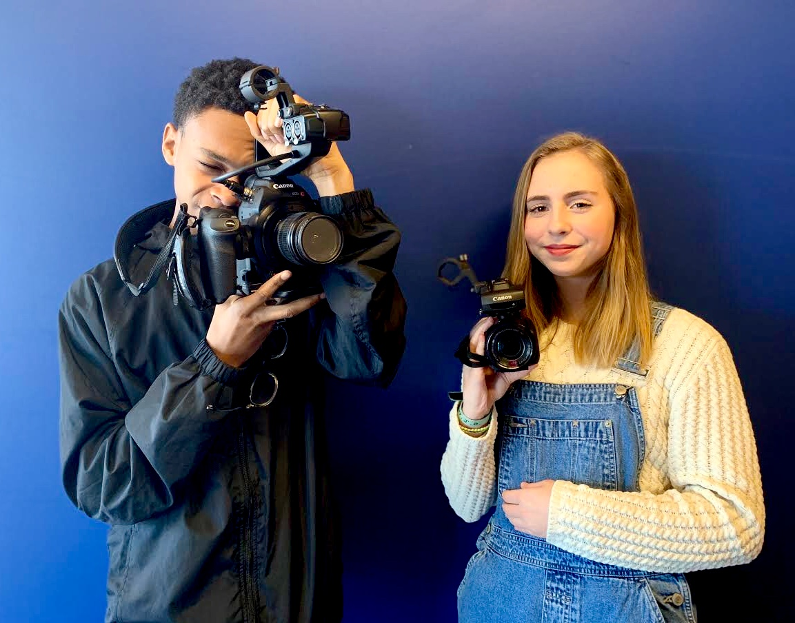 Capture On Tape: Juniors Mack Walker and Sam Stuart learn about the various techniques and styles in film as a part of the school's own Film Club.