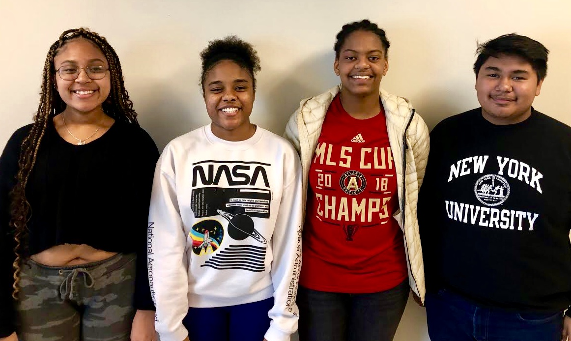 Students Unite: Juniors Janejha Jones, Taylor Walker, Jordan Artis, Javier Manzanarez all manage the newly founded UNITED club for community service and extracurricular activities.