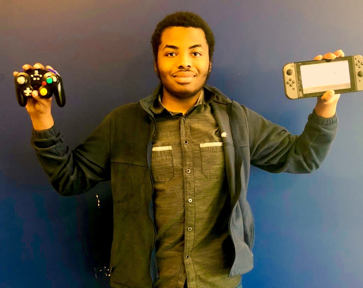 Gaming Galore: Sophomore Dauthier Debe is one of the club founder of the Gaming Club, an increasingly popular platform for North Atlanta gamers.
