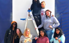 North Atlanta Students Paint Mural in Centennial Park for Super Bowl LLIII