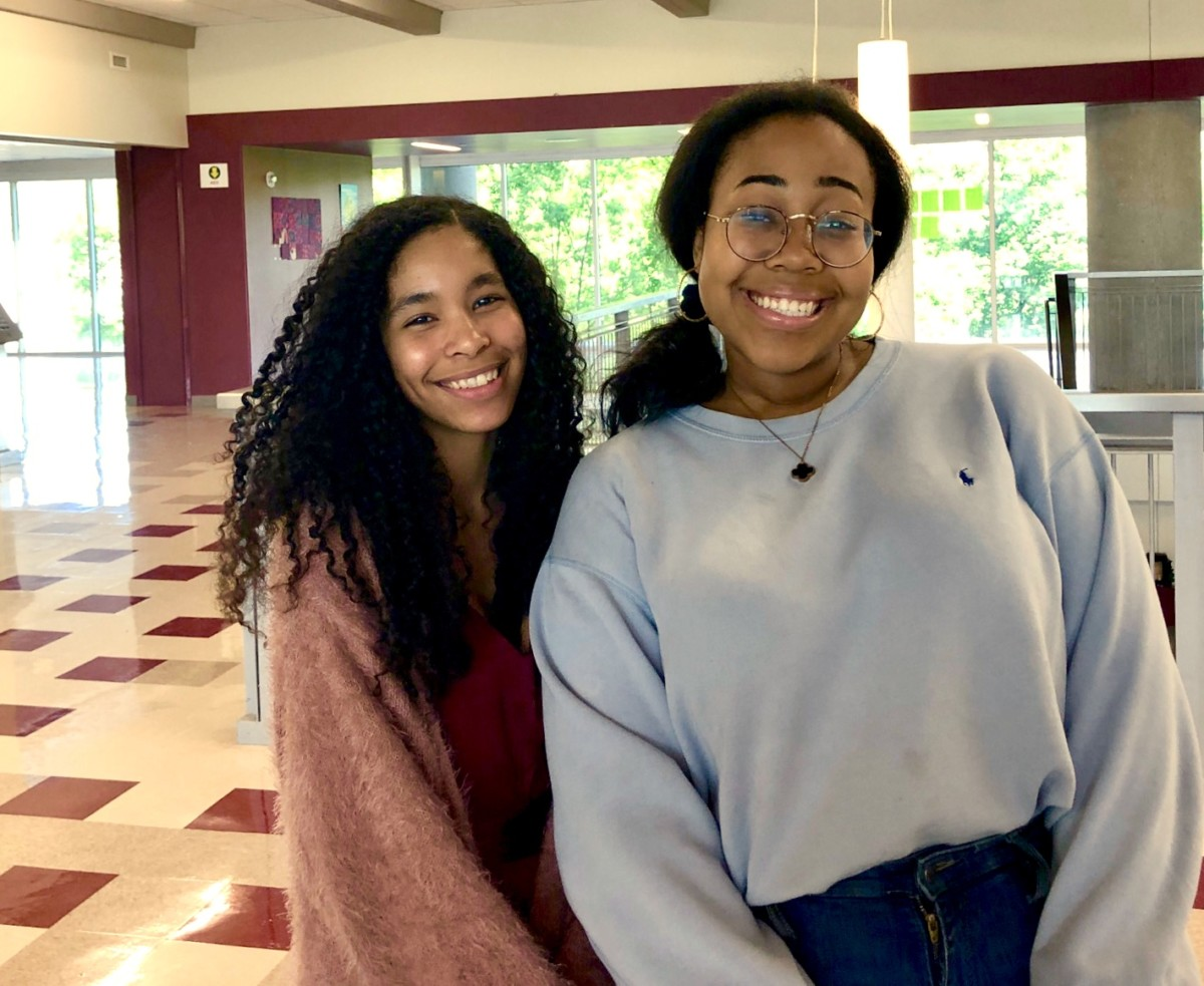 Staged for Success: Juniors Leah Overstreet and Lenox Johnson prepare for Governor Honors Program for Communicative Arts and Theatre respectively.