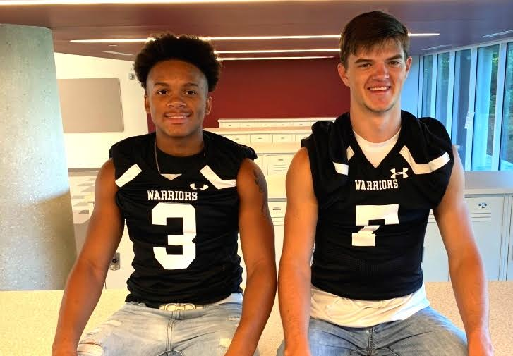 Football Fanatics: Senior Wiley Hartley and Junior Tre Mason are excited for the upcoming season