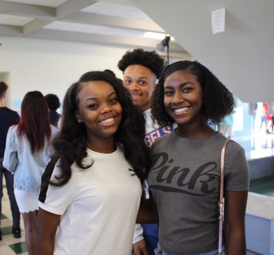 One Final Picture Day: Seniors Mya Andrews, Queen Smith, and Trevian Mason get ready to take their last school pictures.