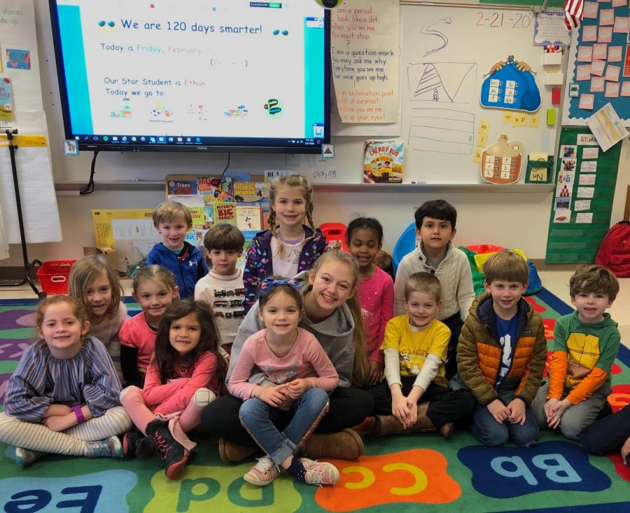 Warriors Show Support for Feeder Elementary Schools Through Reading Program