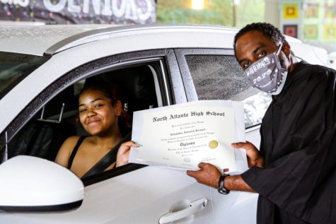 Courageous Class: North Atlanta Class of 2020 graduate Addahlikae Bernard was part of the school's largest graduating class ever, with 505 members. On May 26, she received her diploma from Principal Curtis Douglass.