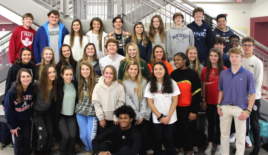 Fun and Fellowship: Shown is last year's Fellowship of Christian Athletes (FCA) Club. Now called Student Christian Leaders, SCL plans to keep up many of its cherished traditions including its open attitude to all members.
