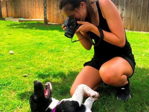 Canine Contributions: Junior Mady Mertens is one of many IB pathway students who are still finding ways to complete their service hours obligations in the face of pandemic-related logistical challenges. For her service, Mertens is volunteering her photography skills for the Human Society.