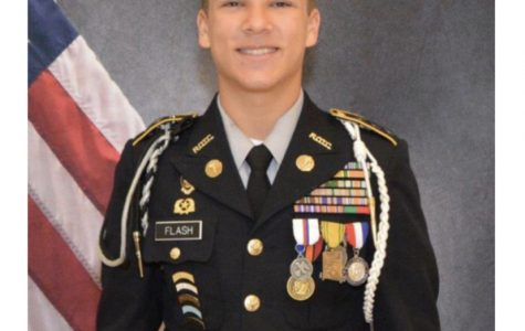 Loyal Leadership: Senior Brandon Flash serves as Battalion Commander after many dedicated years in the JROTC program.