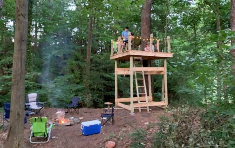 The Great Outdoors: Junior Sullivan Seydel built a treehouse to safely hang out with friends in.