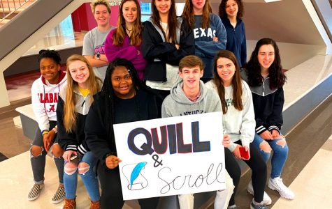 Journalism Excellence: The Quill and Scroll Honors society showcases some of the best and brightest of the journalism pathway at NAHS. Shown above is some of last year's cohort of Quill and Scroll members!