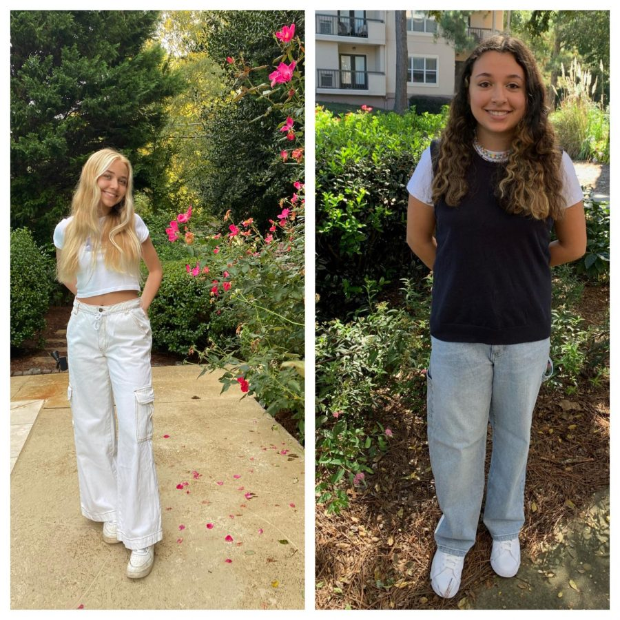 Passion for Fashion: Sophomore Hannah O'Byrne (left) and Sophomore Lucy Marin (right) confidently express their style through clothing.