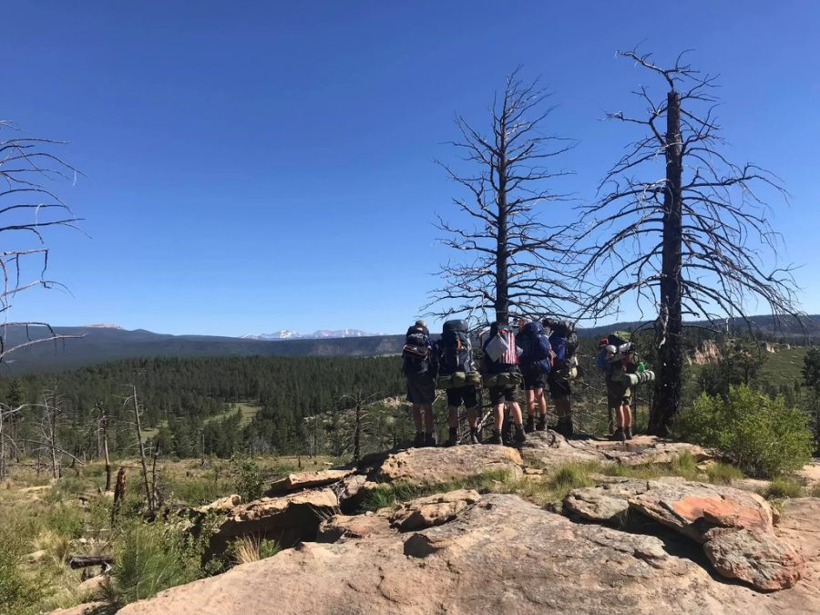 Birds Eye View: Sophomores Henry Peck and Matthew Maiellaro join their troop atop a mountain in Philmont, New Mexico.