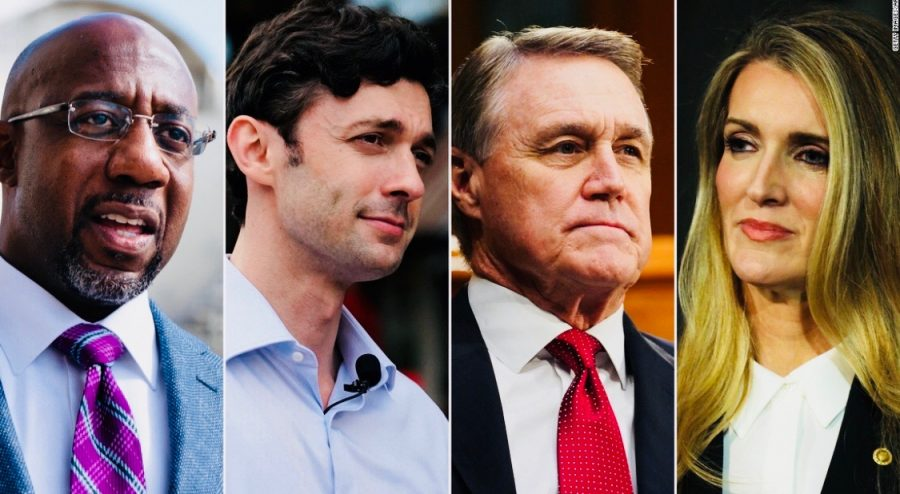 Valued Voters: The run-off election for the US Senate seats will allow many new voters to register. Those that were not old enough to vote in the November election can have the chance to vote for the first time if they turn 18 before January 5. The candidates running shown from left to right are Raphael Warnock, Jon Ossoff, David Perdue, and Kelly Loeffler.
