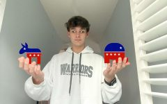 Red or Blue?: Sophomore Grady Bartlett is overwhelmed with political opinions on his social media feeds.