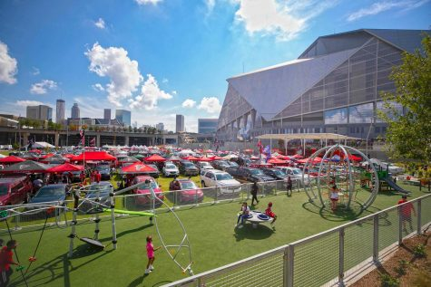 Education and Entertainment: Held at Mercedes Benz Stadium, the Rock the Boat! field trip provided APS upperclassmen with an opportunity to learn about the importance of voting and democracy, all the while having a great time.