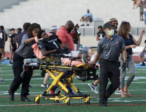 Warrior With Willpower: Junior Jaden Stimpson has faced an intense injury that will take him out for the rest of the school year as an athlete. He is facing this obstacle with determination and optimism, hopeful of a strong return as a Dub.